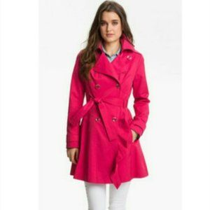 Guess Hot Pink Belted Trench Coat XL